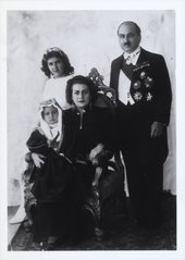The artist and Prince Zeid Al-Hussein with Shirin and Prince Raad, Baghdad, 1938