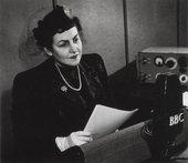 Zeid being interviewed, BBC Radio, 1949
