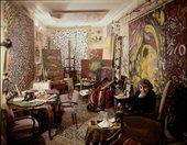 Fahrelnissa Zeid in her studio in Paris, c1960s