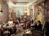 Fahrelnissa Zeid in her studio in Paris, c. 1960s