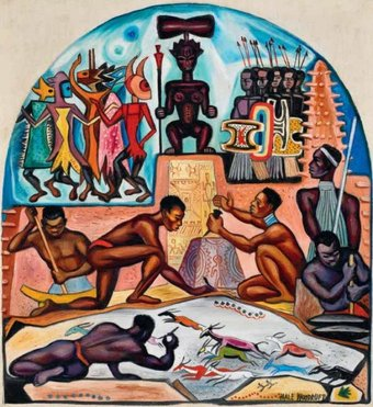 Fig.14 Hale Woodruff, Study for The Art of the Negro: Native Forms 1950