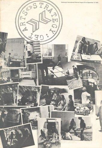 Fig.2 Cover of Strategy: Get Arts, catalogo della mostra, Edinburgh College of Art, 23 agosto - 12 settembre 1970