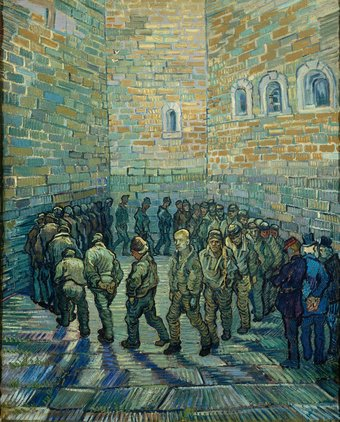 Vincent van Gogh Prisoners Exercising 1890 State Pushkin Museum of Fine Arts (Moscow, Russia)