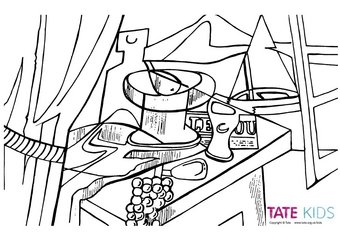 Colour In: Still Life – Colouring Book | Tate Kids