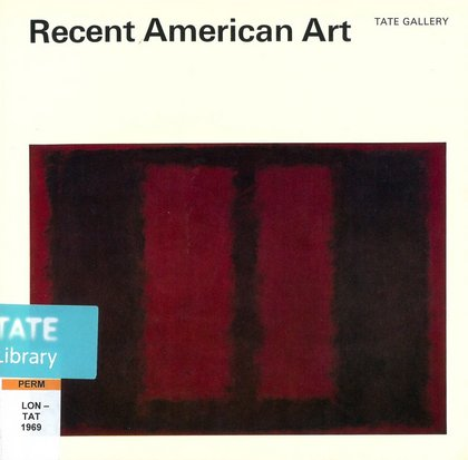 Single Head by David Vaughan 1967 Art Postcard 87L