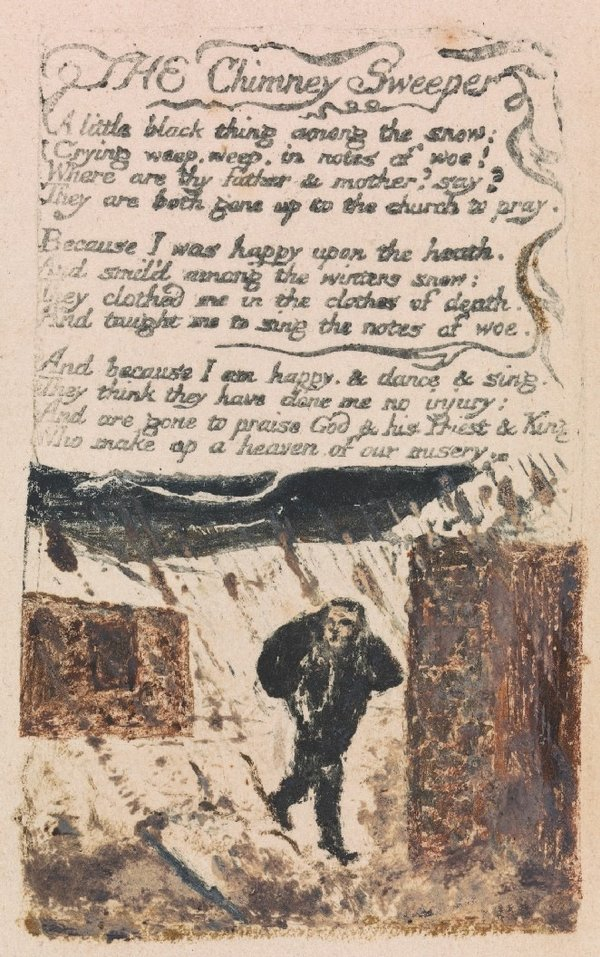 William Blake,Songs of Experience, The Chimney Sweeper1794