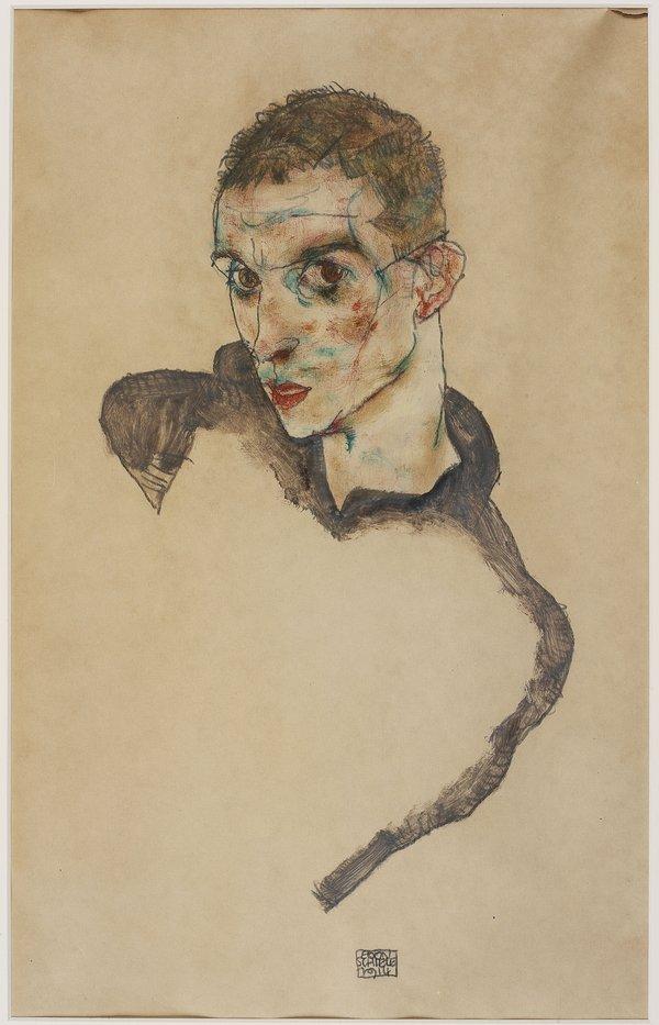 Image: Egon Schiele, Self Portrait 1914. Image courtesy: Hadiye Cangökçe