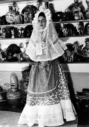 Kahlo Wearing A Tehuana Headdress