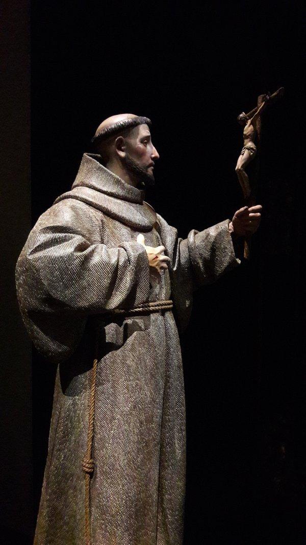 Pedro de Mena y Medrano's St Francis of Assisi, 17th century. Colnaghi