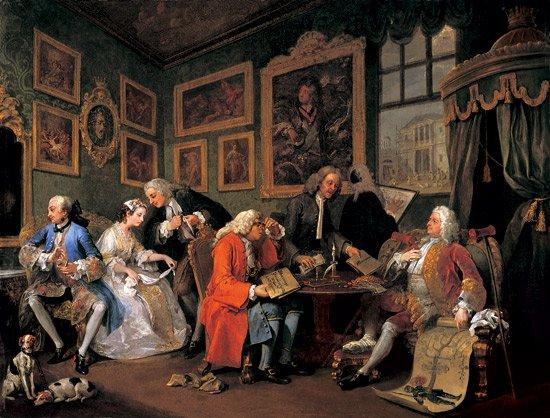 Hogarth Hogarths Modern Moral Series Marriage A La Mode Tate