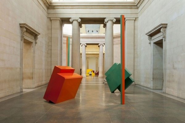 View of Philip King sculptures installed in the Duveen Galleries