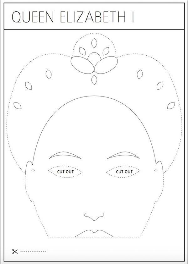 Make A Queen Elizabeth I Mask Tate Kids