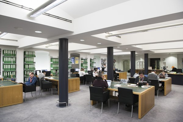 Members of the public use the Reading rooms at Tate Britain