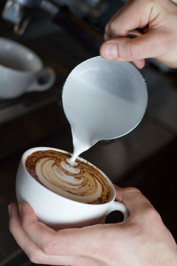 Photograph of coffee being made at Tate Modern espresso bar