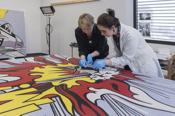 Conserving Whaam! – Behind The Scenes   Tate