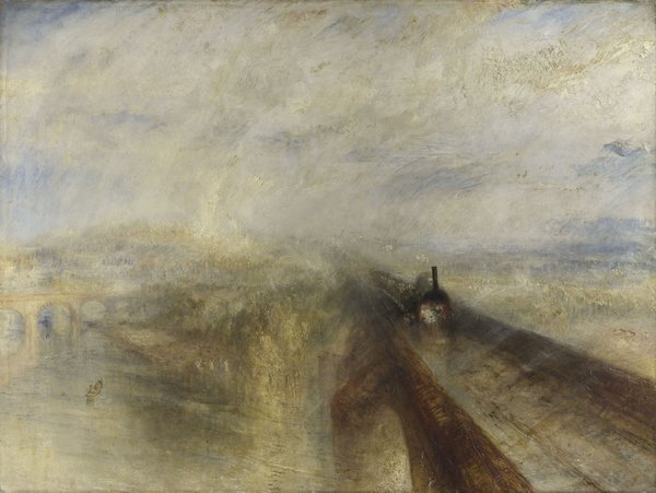 Joseph Mallord William Turner, Rain, Steam and Speed - the Great Western Railway exhibited 1844. The National Gallery, London. © The National Gallery, London