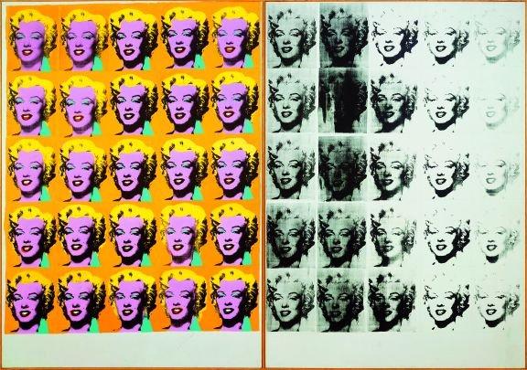 Warhol Marilyn Diptych