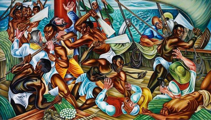 Fig.2 Hale Woodruff, The Mutiny on the Amistad 1939