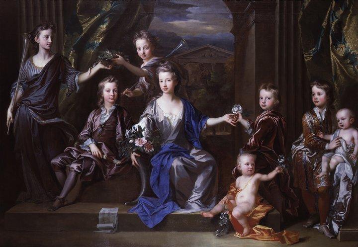 John Closterman The Children of John Taylor of Bifrons Park 1696 National Portrait Gallery, London