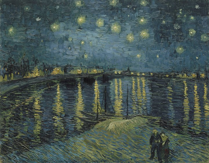 Vincent van Gogh Starry Night over the Rhone 1888 Musée d'Orsay (Paris, France)