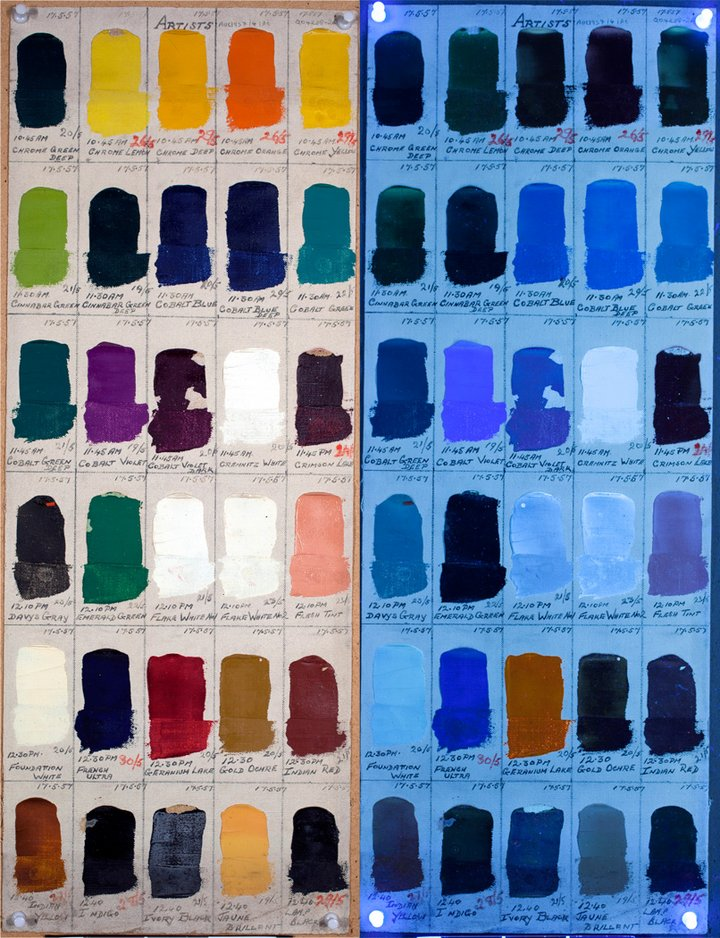 An Example Of A Winsor Newton Artists W N Oil Colour Swatch Dating