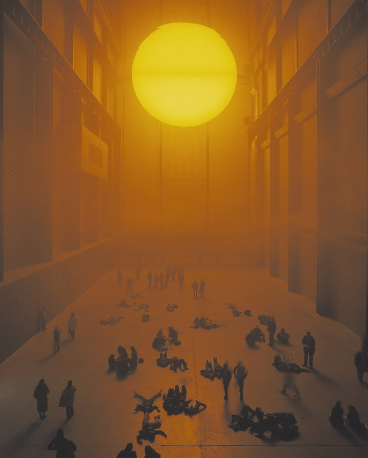The Unilever Series 2003: Olafur Eliasson, The Weather Project. Photocredit: Marcus Leith and Andrew Dunkley, Tate Photography ©TATE 2019
