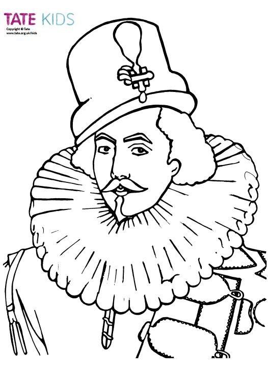 Colour In: Tudor Man – Colouring Book   Tate Kids