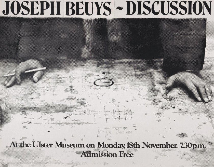 Fig.6 Joseph Beuys, Joseph Beuys: Discussione. The Ulster Museum, Irlanda del Nord 1974
