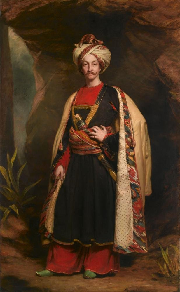 Captain Colin Mackenzie of the Madras Army, lately a hostage in Caubool, in his Afghan Dress (1842) by James Sant